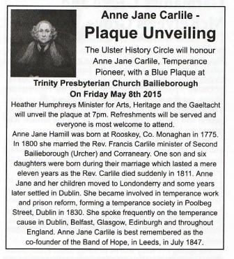 Notice of Plaque Unveiling