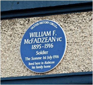 image - Blue Plaque - McFadzean VC