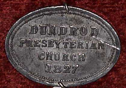 Dundrod Presbyterian Church Communion Token 1827