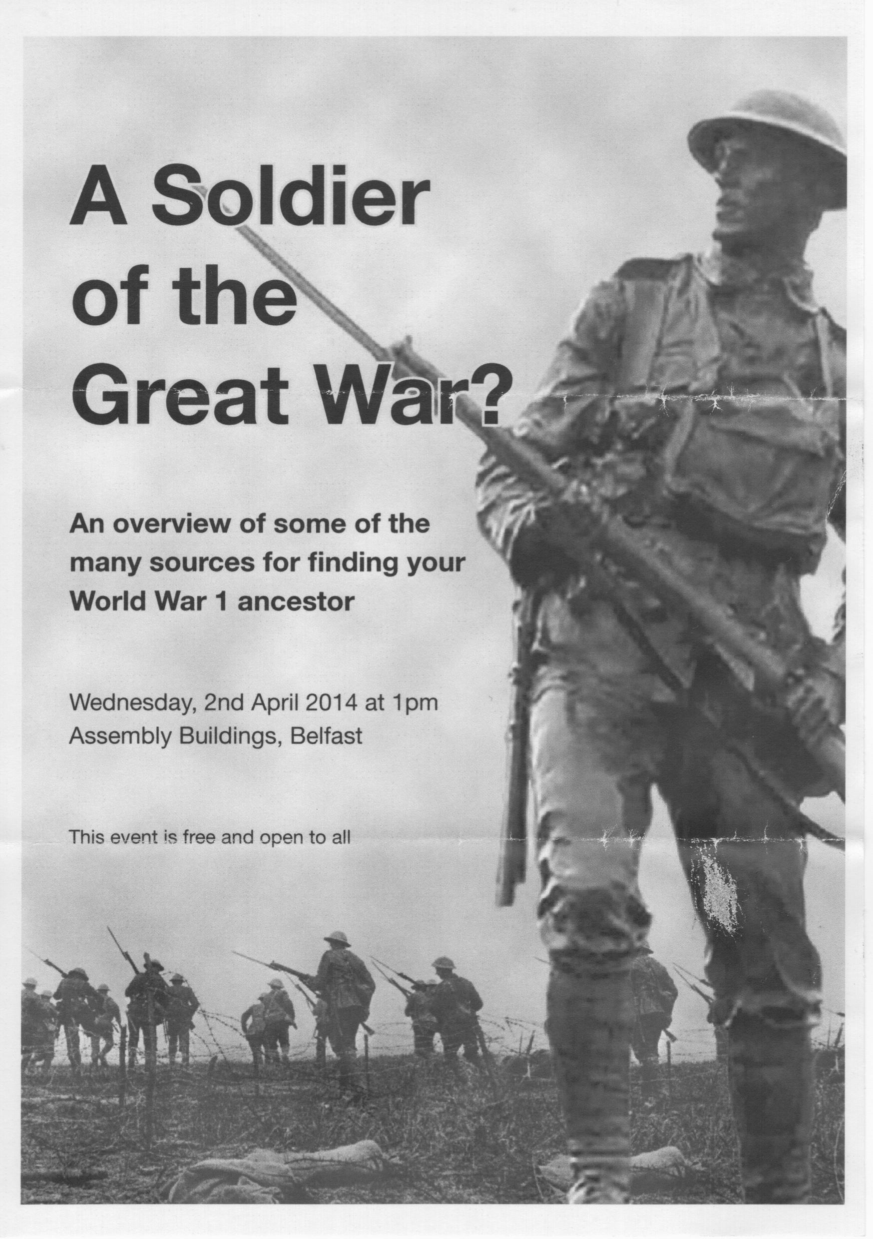 Flyer - World War I Soldier