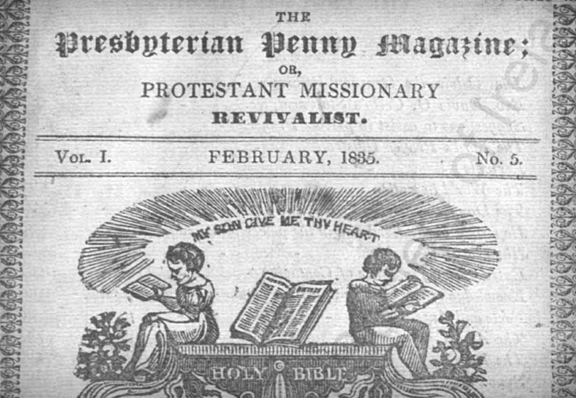 Scanned image of Presbyterian Penny Magazine cover