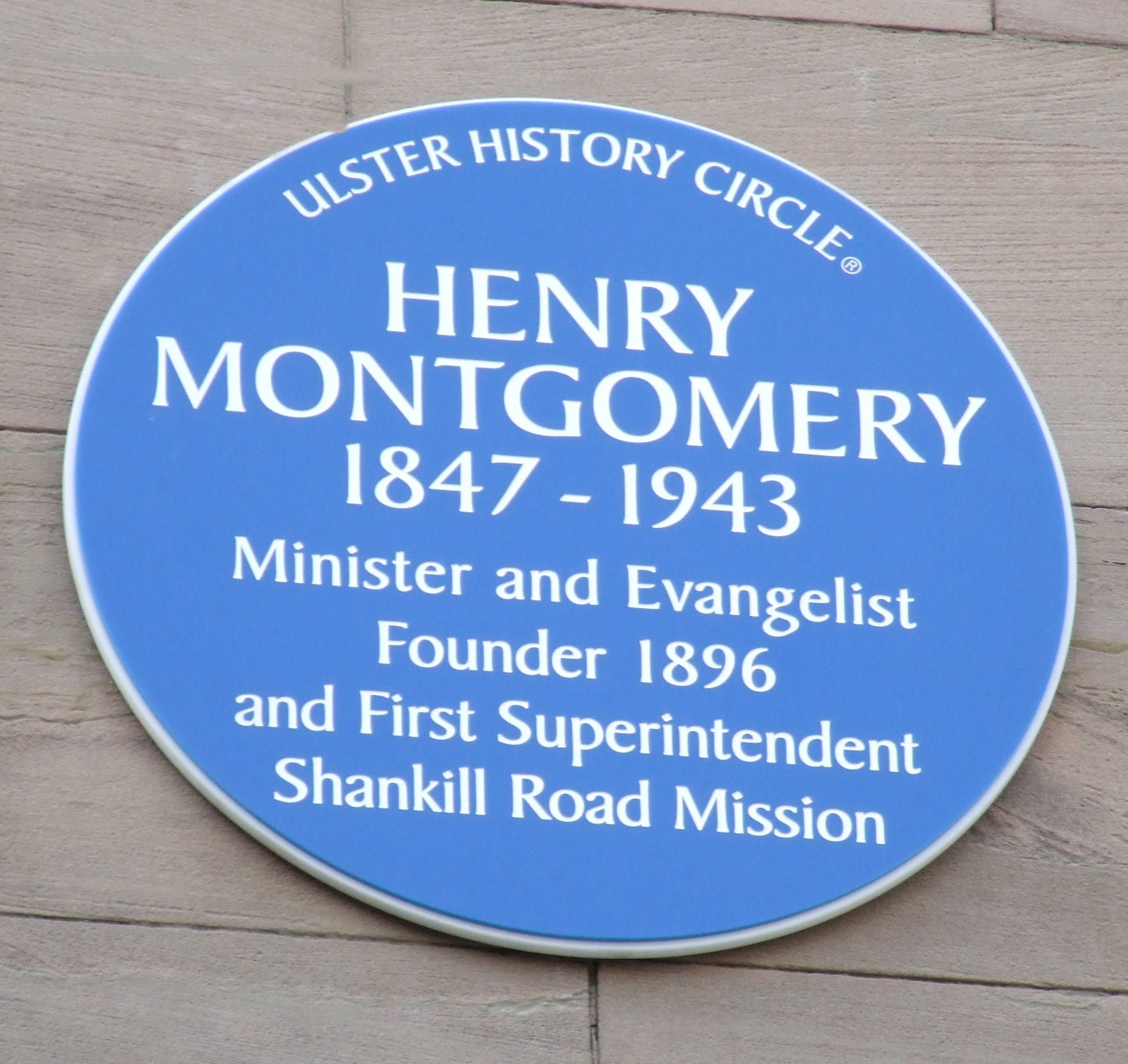 Montgomery Blue Circle Plaque