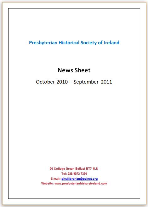 News Sheet 2011
