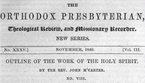 Scan of a front cover of an issue of the Orthodox Presbyterian magazine