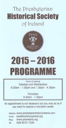 PHSI Programme 2015-16