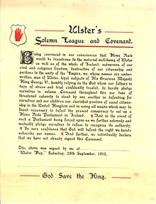Ulster's Solemn League and Covenant